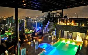 Rooftop pool at the Charlee Hotel.